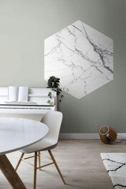 spisestue wallsticker marmor  sort og hvidt 159026