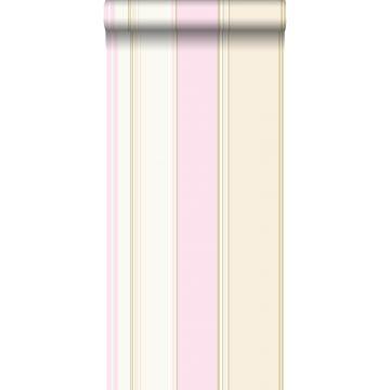 tapet striber skinnende lyserødt