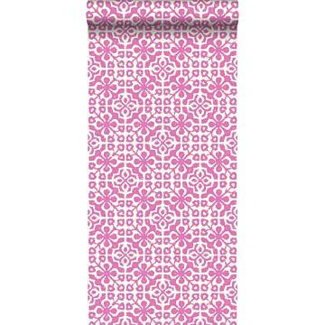 tapet slidte fliser lyserødt