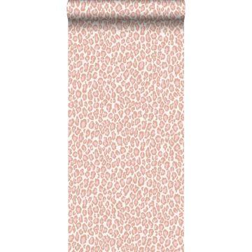 tapet leopardskind ferskenfarvet