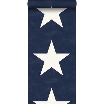 tapet stjerner marineblåt