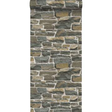 tapet murstenmur brunt