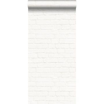 tapet murstensvæg off-hvidt