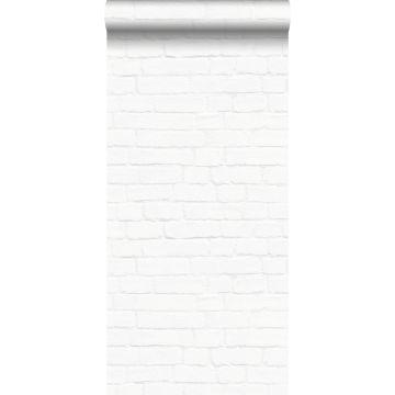tapet murstensvæg hvidt