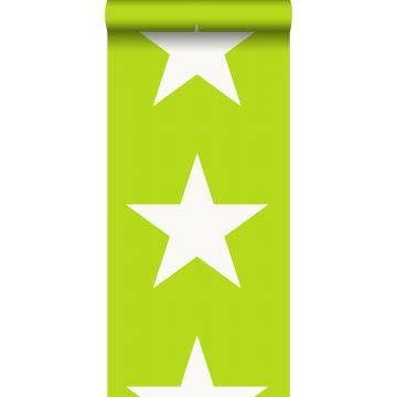 tapet stjerner limegrønt