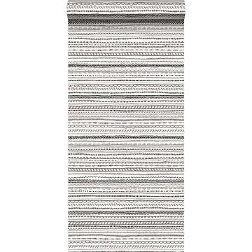 tapet kniplingsbånd sort og hvidt
