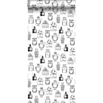 tapet parfumeflasker sort og hvidt