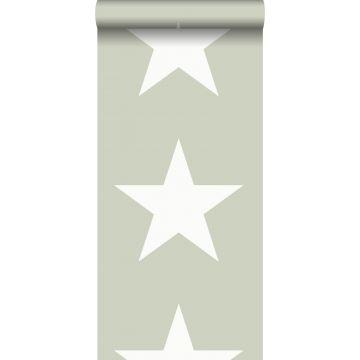 tapet stjerner mintgrønt