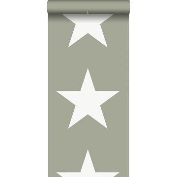 tapet stjerner militærgrønt