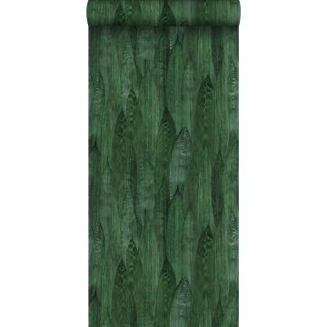 tapet blade smaragdgrønt