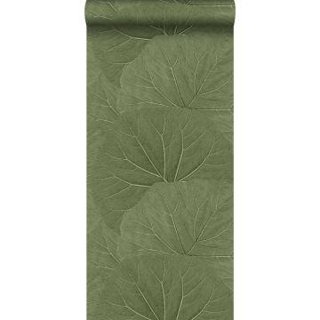 tapet store blade olivengrønt