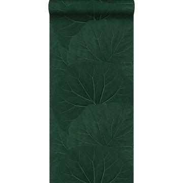 tapet store blade smaragdgrønt