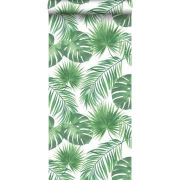 tapet tropiske blade grønt