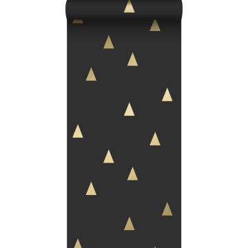 tapet grafiske trekanter sort og guld