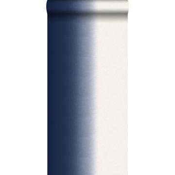tapet dip dye-motiv mørkeblåt