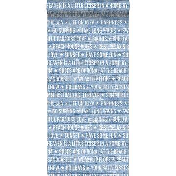 tapet sommeragtige tekster blåt