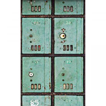 fototapet postkasser havgrønt