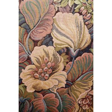 fototapet blomstermønster orange