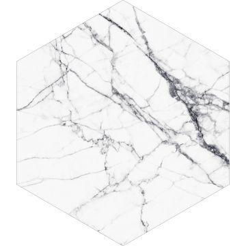 wallsticker marmor sort og hvidt