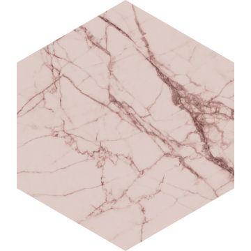 wallsticker marmor grårosa