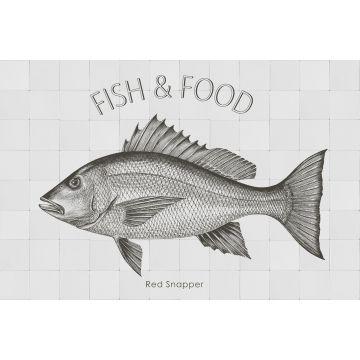 wallsticker fisk sort
