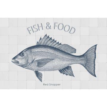 wallsticker fisk blåt