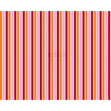 stoff striber lyserødt og orange