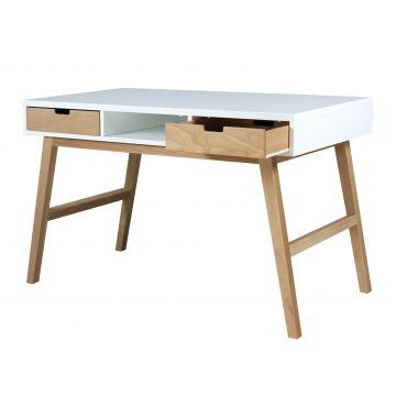 skrivebord Lynn hvidt og naturlig